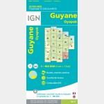 Carte Guyane Oyapok IGN - recto