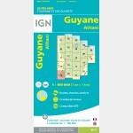 Carte Guyane Alitani IGN - recto