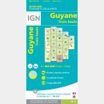 Carte Guyane Trois Sauts IGN - recto