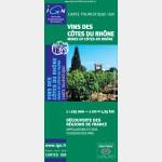 Carte des vins des côtes du Rhône - Recto