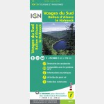 Carte Top 75 IGN - Vosges du Sud - Ballon d'Alsace - Hohneck - Recto