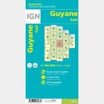 Carte Guyane Saül IGN - recto