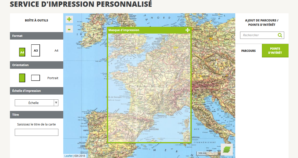 Carte Corse Format A3.Aide Impression Personnalisee