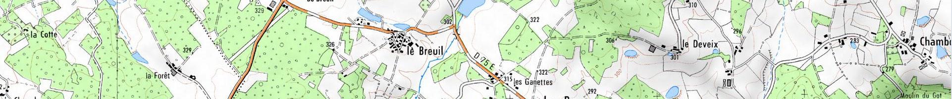 Carte topographique IGN 3e niveau d'agrandissement