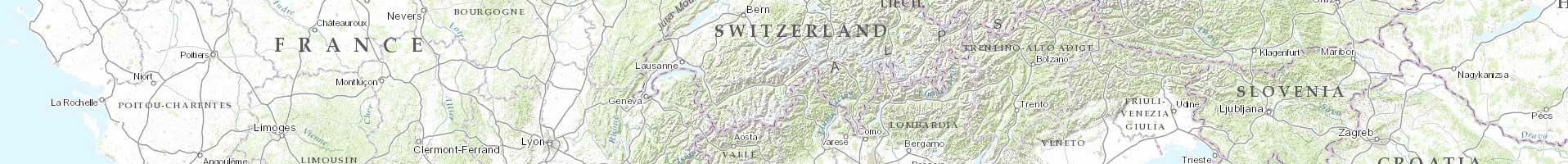 Carte topographique Monde / ESRI 2e niveau d'agrandissement