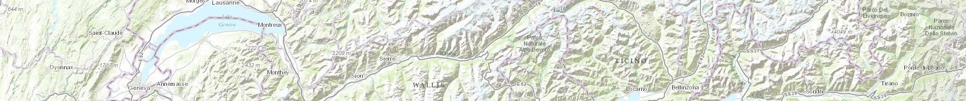 Carte topographique Monde / ESRI 3e niveau d'agrandissement
