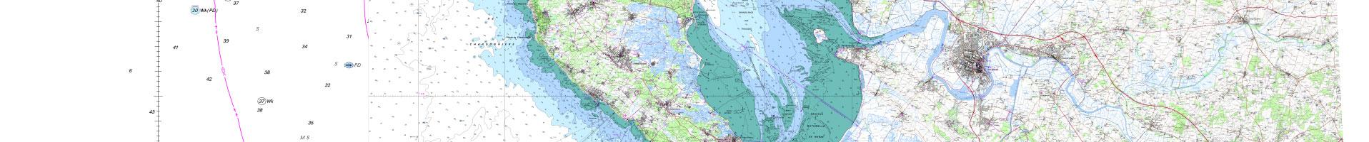 Carte littorale / SHOM / IGN 1er niveau d'agrandissement