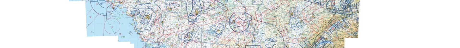 Carte aéronautique OACI / IGN 1er niveau d'agrandissement