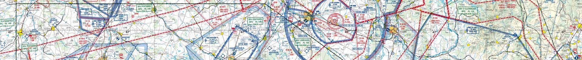 Carte aéronautique OACI / IGN 2e niveau d'agrandissement