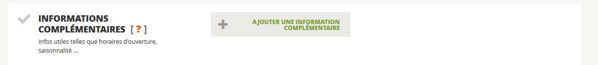 Description parcours INFORMATIONS COMPLÉMENTAIRES
